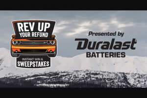 Autozone – Rev Up Your Refund Instant Win Game And – Win (1) Grand Prize of $30000 cash awarded in the form of a check