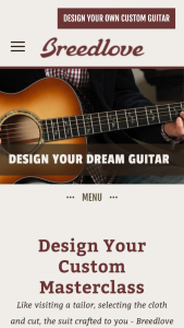 BREEDLOVE MUSIC – DREAM CUSTOM MASTERCLASS GUITAR Sweepstakes
