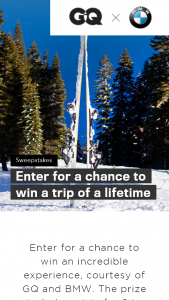 Conde Nast – There's Never Been A Better Time To Visit Tahoe – Win is a trip for 2 to Lake Tahoe California
