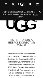 DECKERS OUTDOOR – UGG SBIFF DIRECTOR CHAIR GIVEAWAY – Win one UGG Director Chair