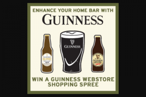 DIAGEO BEER COMPANY – GUINNESS WEBSTORE – Win one (1) $1000.00 e-gift card redeemable for items available for sale at the Guinness Webstore
