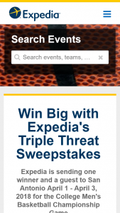Expedia – Triple Threat – Win a trip for two people (winner and a guest) to San Antonio