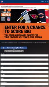 Ford – 2018 Nfl Toughest Ticket Season Ticket Giveaway – Win all US home games of winner's choice of NFL team during the 2018 – 2019 NFL regular season and two $1000 NFL Shop gift cards