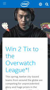 Intel – Gaming Access Overwatch League Ticket – Win of Two Overwatch League tickets (ARV $40USD).