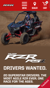 Polaris – Rzr Rs1 Race Giveaway – Win 2018 Polaris RZR RS1 (ARV $13999) Color choices are Black or White