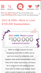 Qvc & Hsn – More To Love $100000 Sweepstakes | GiveawayUS com