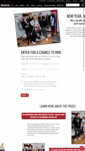 REEBOK – NEW YEAR NEW YOU – Win a day of pampering