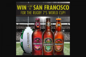 ST KILLIAN IMPORTING – CRABBIE'S RUGBY – Win a trip to San Francisco