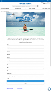 West Marine – Prana Paddle Giveaway – Win a $500 West Marine Gift Card