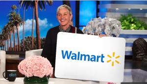 Ellen Tube – Win a $300 Walmart Gift Card