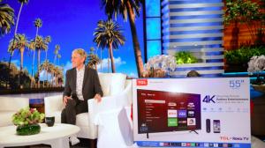 Ellen Tube – Win a 55″ 4K TCL Roku TV