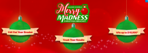 Hallmark Channel – Merry Madness Christmas Bracket – Win a grand prize of $10,000 cash OR 1 of 2 minor prizes