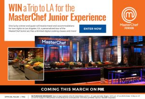 Meredith – FamilyCircle – Win a grand prize of a trip for 2 to Los Angeles OR a minor prize of one Masterchef Junior Cookbook & 1-year free subscription to all of Craftsy's online classes