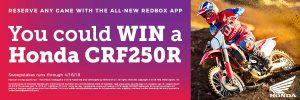 Redbox – Honda Motorcycle Giveaway – Win a 2018 Honda CRF250R motorcycle $7999.