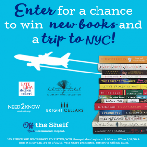 Simon & Schuster – The Off the Shelf March 2018 – Win 14 books valued at $270 & $500 toward airfare to NY plus more