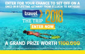 Travel Channel – Win a trip for 2 to Antigua and St. Lucia valued at up to $100,000