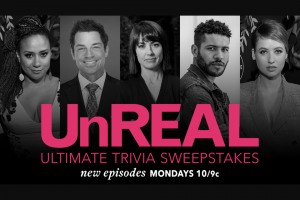 A&E TELEVISION NETWORKS – LIFETIME ULTIMATE UNREAL TRIVIA – Win a trip for him/herself and one (1) guest to an UnREAL season 3 watch party in Los Angeles