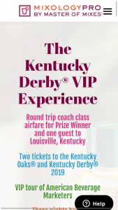 AMERICAN BEVERAGE – MASTER OF MIXES KENTUCKY DERBY VIP EXPERIENCE Sweepstakes