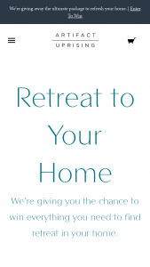 Artifact Uprising – Retreat To Your Home – Win one $500 credit to Artifact Uprising