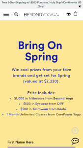 Beyond Yoga – Bring On Spring – Win $1000 to Beyond Yoga
