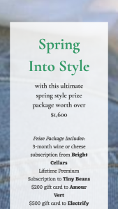 BRIGHT CELLARS – SPRING INTO STYLE Sweepstakes