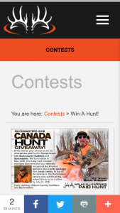 BUCKMASTERS – 2018 CANADA HUNT GIVEAWAY – Win package from Jacob Landry
