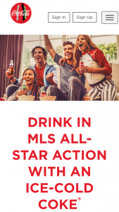 COCA-COLA – MLS ALL STAR GAME Sweepstakes