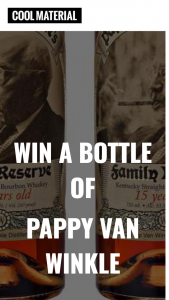 DARTBOARD – BOTTLE OF PAPPY VAN WINKLE – Win value of $1300) A 750ml bottle of Pappy van Winkle – 15 Year old Bourbon 2015