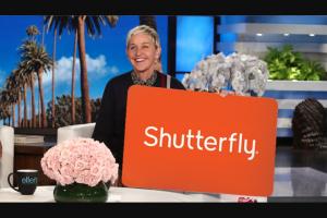 ELLENTV – $500 SHUTTERFLY GIFT CARD Sweepstakes