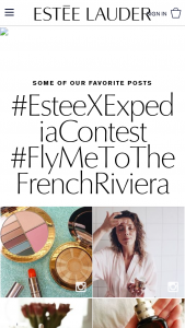 Estée Lauder And Expedia – Fly Me To The French Riviera Contest – Instagram Or Email – Win of a 5 day/4 night trip for two (2) including round trip airfare hotel accommodations for winner and their guest valued up to $10000.