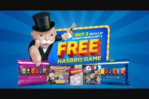 FRITO-LAY & HASBRO – GAME NIGHT BUNDLE – Win a one (1) year subscription to Hasbro Gaming Family Crate