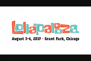 LOLLAPALOOZA – PICK YOUR LOLLA GIVEAWAY – Win the following 1.