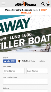 "MILLS FLEET FARM – SHIMANO BOAT – Win a 16'5"" Lund Rebel Tiller with approximate retail value equal to $15000."