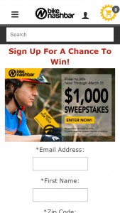 NASHBAR DIRECT – BIKES NASHBAR'S  $1000 – Win two $500 Bikes Nashbar Gift Cards Total approximate value of the prize is $1000.00