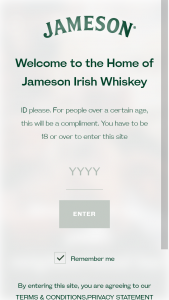 PERNOD RICARD JAMESON – LOVE THY NEIGHBORHOOD BAR PROMOTION – Win 1 per Sweepstakes) Trip for winner and one guest (21 or over) to Dublin Ireland to visit the Jameson Distillery Bow Street