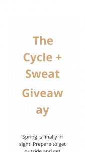"STACKSOCIAL – THE CYCLE & SWEAT GIVEAWAY – Win value of $2500) Prizing will include The Peloton Bike ""The Works"" accessory package by Peloton one Fitbit Alta and a $150 LuluLemon gift card"