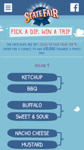 TYSON FOODS – STATE FAIR CORN DOG DIP-OFF – Win a $10000.00 check for a family vacation