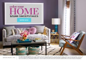 Martha Stewart – Color Your Home – Win a $25,000 check