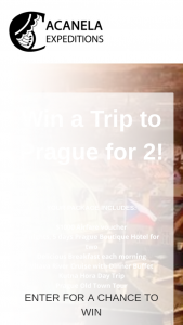 Acanela – Trip To Prague For 2 Sweepstakes