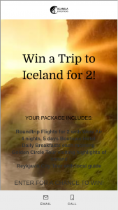 Acanela – Win A Trip To Iceland For 2 Sweepstakes