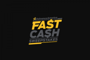 Advance America – Fast Cash – Win awarded by check payable in the name of the winner