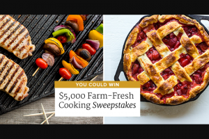 America's Test Kitchen – Farm-Fresh Cooking Sweepstakes