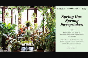 Domino – Spring Has Sprung Sweepstakes