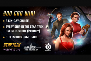 Enter – Win A Star Trek Themed 6day Caribbean Cruise  The Prize Also Includes Computer Gaming Accessories.