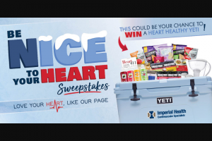 Enter – Win A YETI Coolerloadedto The Lid With Heart Friendly Eats, Treats, Drinks And Gear  Be Sure To Enter On A Computer Or Tablet, It Wont Work On Mobile.