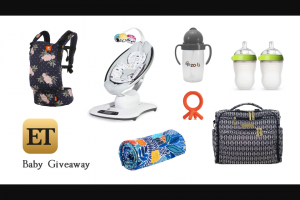 Etonline Entertainment Tonight – Welcome Baby Giveaway – Win one Grab Bag with baby products (ARV $866).