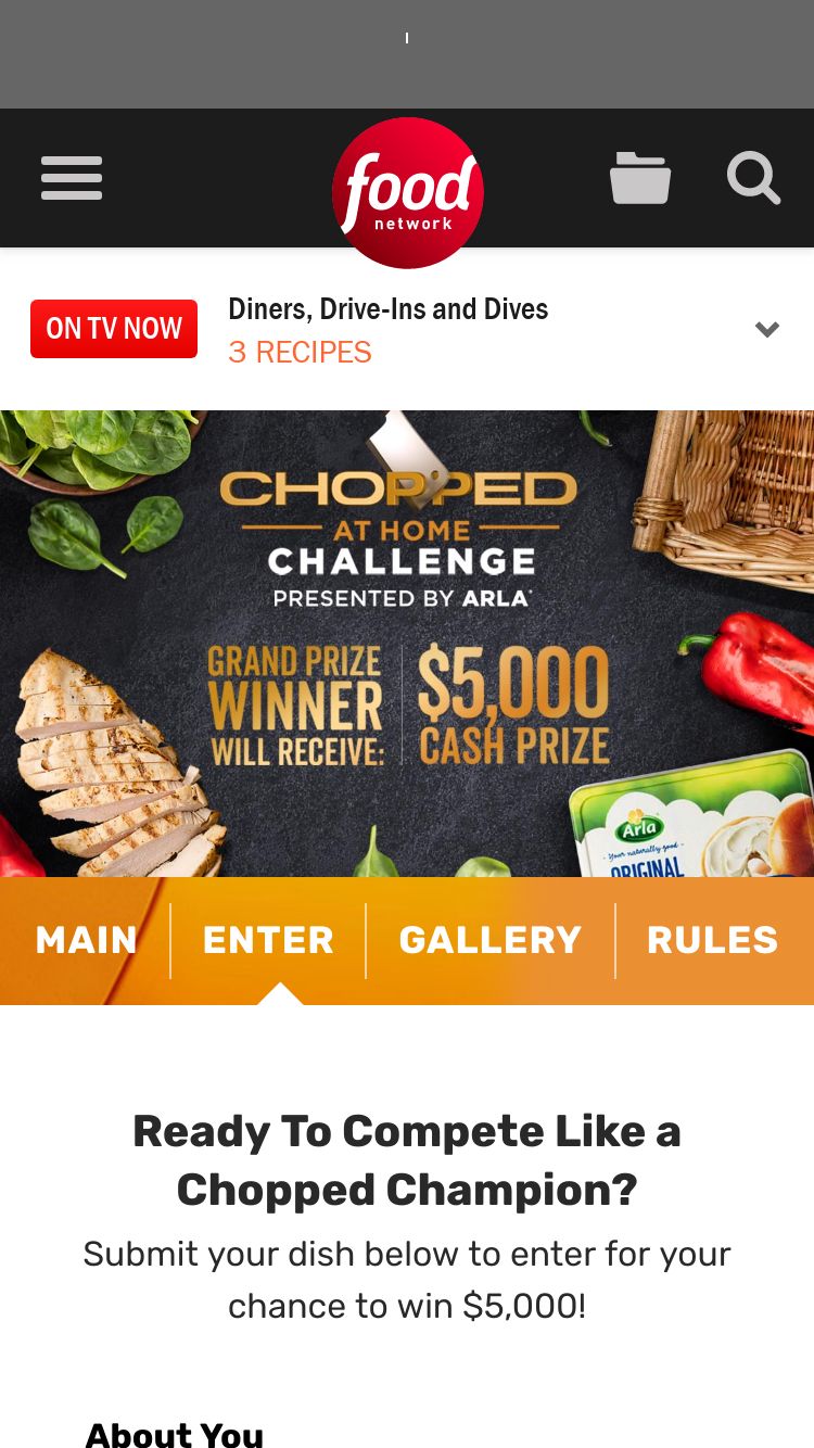 Food network chopped at home challenge presented by arla c from foodnetwork x forumfinder Choice Image