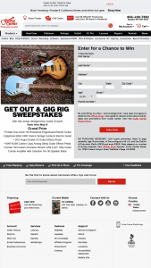 Guitar Center – Jared Scharff's Get Out & Gig Guitar Rig Sweepstakes
