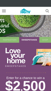 HGTV – Love Your Home – Win a grand prize of Wayfair gift card valued at $2,500