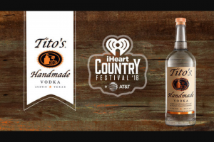Iheart Media – Iheartcountry Festival – Win will include the following  A three (3) day/two (2) night trip for two (2) people to Austin TX from May 4 – 6 2018.